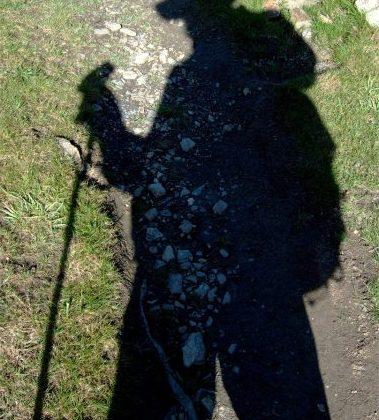 Schatten eines Wanderers