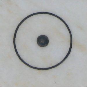 Bodenzeichen Kreis mit Punkt in der Mitte