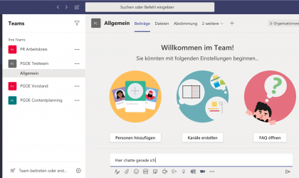 Microsoft Teams Bildschirmfoto
