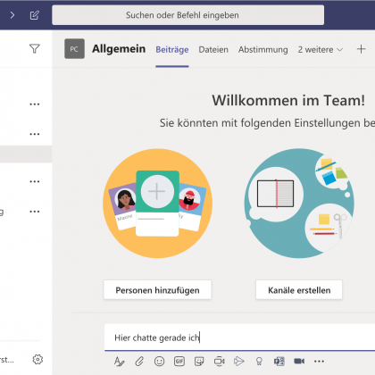 Microsoft Teams Bildschirmfoto