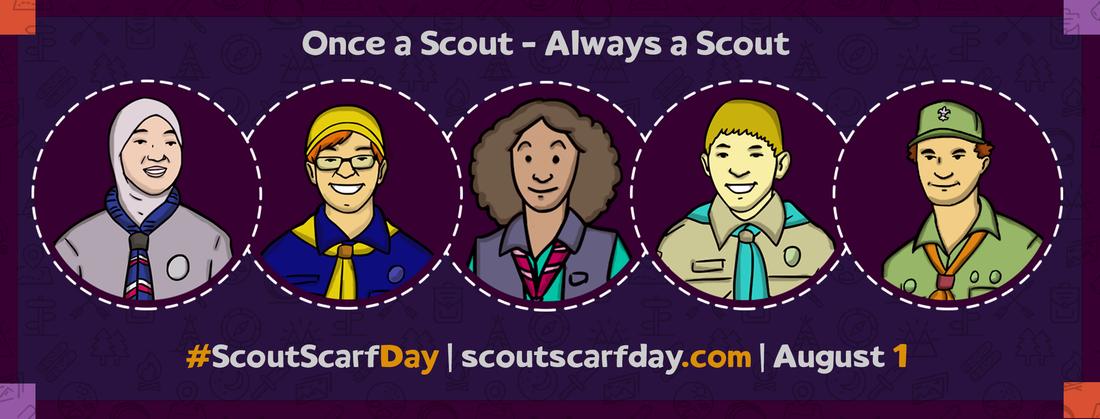 ScoutScarfDay Banner mit Profilen